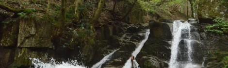 三室の滝・兵庫県【跳ね返りやんちゃ滝】