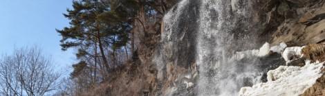 蓼科の滝ガール旅【前編・雪の乙女滝と黄金温泉】