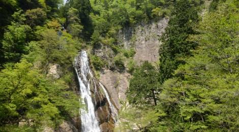千丈滝(三滝渓)・鳥取県【吊り橋の上で幸せツーショット】