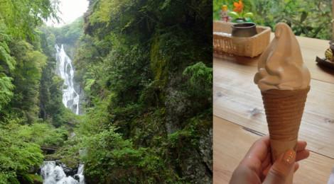 神庭の滝・岡山県【迫力の大瀑布と神ソフトクリーム】