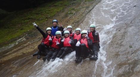 雪輪の滝・愛媛県【キャニオニングの王者!巨大な滝滑り台】