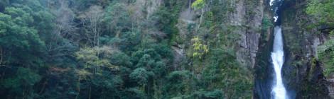 西椎屋の滝・大分県【ハードな下り階段!宇佐トリオの実力】