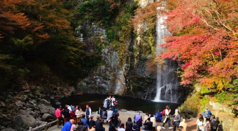 箕面滝・大阪府【紅葉シーズンは大賑わい!歴史ある名瀑】