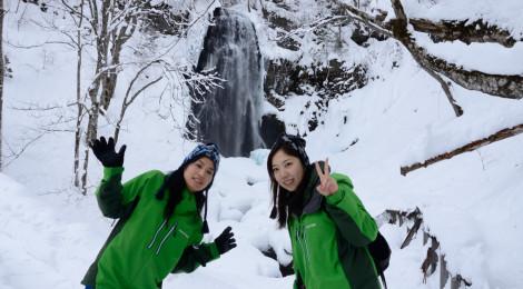 小野川不動滝/ブルーフォール・福島県【裏磐梯の冬の名瀑】