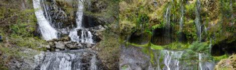こもれびの滝/不易の滝・長野県【御嶽山登山口の美滝ペア】