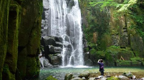 桑ノ木の滝・和歌山県【岩が生み出す水の芸術!新宮の名瀑】