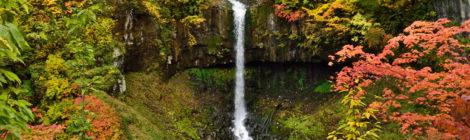 曽利の滝・秋田県【八幡平鹿角の穴場!紅葉とベストマッチ】