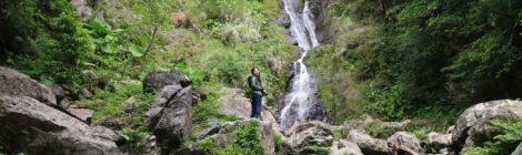 フナンギョの滝・鹿児島県【奄美滝ラスト!青空に輝く滝】