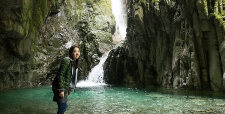 植魚の滝・和歌山県【神秘の空間!古座川源流の秘境滝へ】