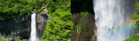 初夏の日光名瀑めぐり【イワツバメ舞う虹の華厳の滝】