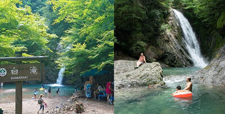 横谷峡四つの滝・岐阜県【夏休みに賑わう飛騨金山の名所】