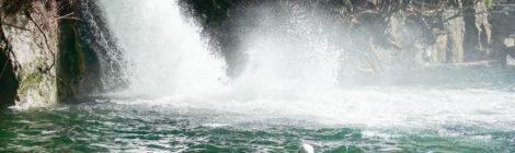筆藪の滝・和歌山県【波打つ滝つぼ、天然プールに大興奮】