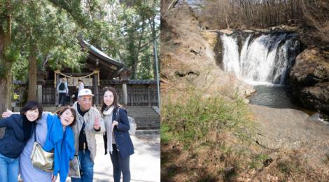 春の開運滝ツアー@茅野【諏訪大社と多留姫の滝】