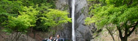 見神の滝・山梨県【愛車ラシーンと記念撮影!早川町の名瀑】