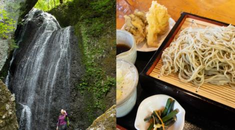 仙の滝(世立八滝)・群馬県【春の世立集落と六合名物蕎麦】
