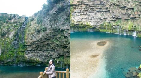 雄川の滝・鹿児島県【フェリーで大隅半島へ!断崖の絶景滝】